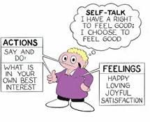 Sefl talk cartoon