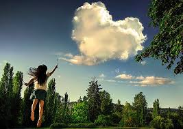 Girl with Heart Cloud