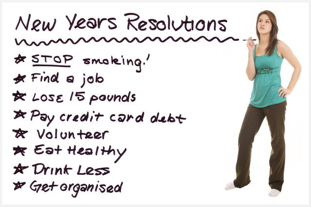 NYers Eve Resolution List